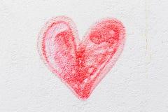 Cuore verniciato rosso Fotografie Stock Libere da Diritti
