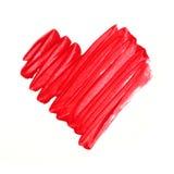 Cuore verniciato rosso Fotografie Stock