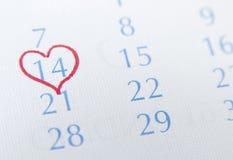 Cuore verso 14 febbraio Immagini Stock Libere da Diritti