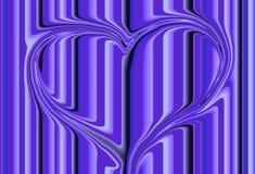 Cuore viola Fotografia Stock Libera da Diritti