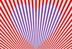 Cuore viola, biglietto di S. Valentino, vettore illustrazione vettoriale