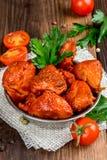 Cuori affumicati del pollo sparati in decorazione Fotografia Stock Libera da Diritti