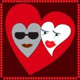 Cuori amorosi Immagine Stock