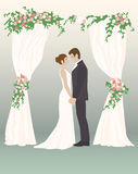 Cuori amorosi di giorno delle nozze Immagini Stock Libere da Diritti