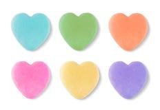 Cuori in bianco dei biglietti di S. Valentino di Candy Immagine Stock Libera da Diritti