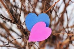 Cuori, carta di giorno di biglietti di S. Valentino Immagine Stock Libera da Diritti