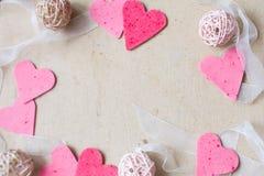 Cuori, cartolina d'auguri di giorno di biglietti di S. Valentino Fotografia Stock