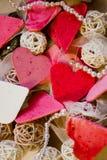 Cuori, cartolina d'auguri di giorno di biglietti di S. Valentino Immagine Stock Libera da Diritti