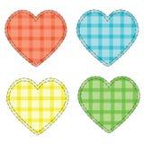 Cuori Checkered Immagini Stock