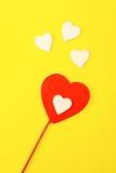 Cuori dei biglietti di S. Valentino. Immagini Stock