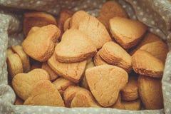 Cuori dei biscotti per il San Valentino Fotografie Stock Libere da Diritti