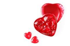 Cuori del biglietto di S. Valentino Immagini Stock Libere da Diritti