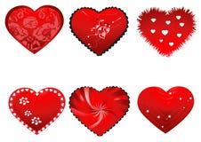 Cuori del biglietto di S. Valentino Immagine Stock Libera da Diritti
