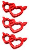 Cuori del biglietto di S. Valentino Fotografie Stock Libere da Diritti