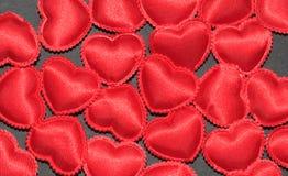 Cuori del biglietto di S. Valentino Fotografia Stock Libera da Diritti