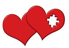 Cuori del biglietto di S. Valentino illustrazione di stock