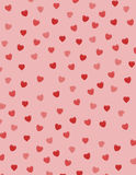 Cuori del biglietto di S. Valentino royalty illustrazione gratis
