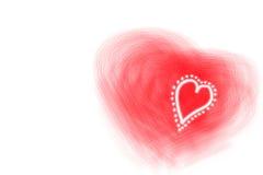 Cuori del biglietto di S. Valentino Fotografia Stock