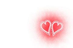 Cuori del biglietto di S. Valentino Immagini Stock