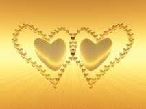 Cuori del biglietto di S. Valentino, amore di festa. illustrazione di stock
