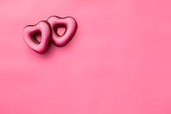 Cuori del biglietto di S. Valentino della confetteria Fotografia Stock Libera da Diritti