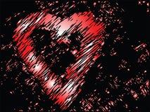 Cuori del biglietto di S. Valentino di vettore Fotografie Stock Libere da Diritti