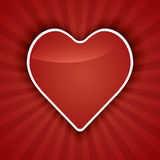 Cuori del briciolo di Valentine Day Card. Fotografia Stock Libera da Diritti