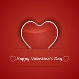 Cuori del briciolo di Valentine Day Card. Immagine Stock