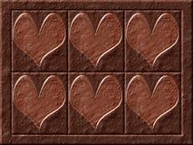 Cuori del cioccolato Immagini Stock