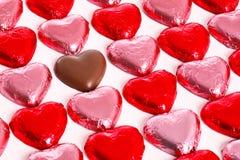Cuori del cioccolato Immagine Stock Libera da Diritti