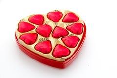 Cuori del cioccolato Immagine Stock