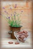 Cuori del cioccolato Fotografie Stock