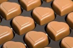 Cuori del cioccolato Fotografia Stock Libera da Diritti