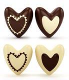 cuori del cioccolato il giorno del biglietto di S. Valentino Immagini Stock Libere da Diritti