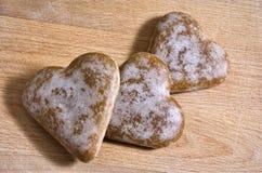 Cuori del pan di zenzero Immagine Stock Libera da Diritti
