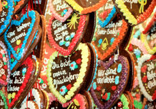 Cuori del pan di zenzero Fotografia Stock Libera da Diritti