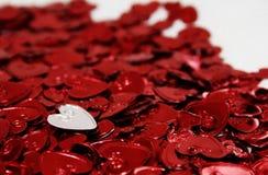 Cuori del St-Biglietto di S. Valentino Fotografia Stock