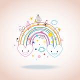 Cuori dell'arcobaleno Fotografia Stock