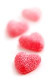 Cuori della caramella Fotografia Stock