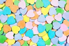 Cuori della caramella Fotografie Stock