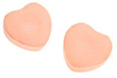 Cuori della caramella di giorno del biglietto di S. Valentino Immagine Stock Libera da Diritti