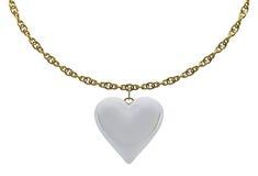 Cuori della perla con una catena dell'oro Immagine Stock Libera da Diritti