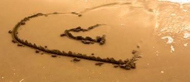 Cuori della sabbia Immagine Stock Libera da Diritti
