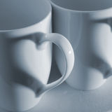 Cuori della tazza di caffè Fotografia Stock Libera da Diritti