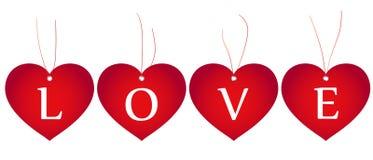 Cuori di amore Immagine Stock