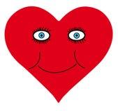 Cuori di amore per il biglietto di S. Valentino Fotografia Stock