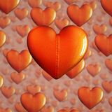 Cuori di Beld per il fondo di giorno di biglietti di S. Valentino Immagini Stock Libere da Diritti