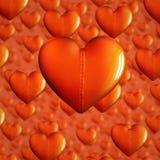 Cuori di Beld per il fondo di giorno di biglietti di S. Valentino Fotografie Stock