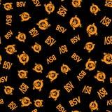 Cuori di Bitcoin SV e logos - modello senza cuciture immagini stock libere da diritti