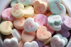 Cuori di Candy di San Valentino Fotografia Stock